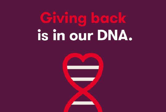 Giving back is in our DNA